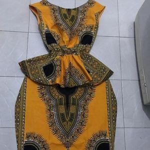 Coming Soon: Stylish Orange Dashiki Top & Skirt